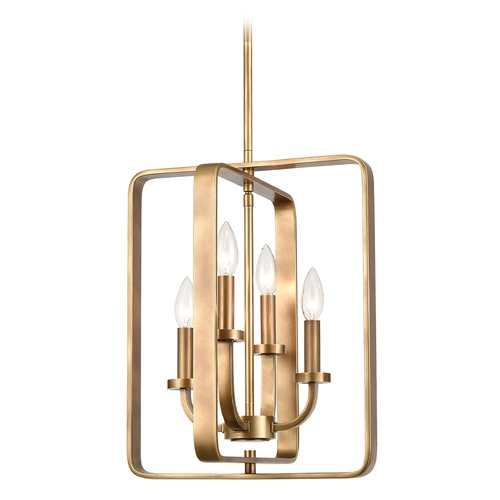 Elk Lighting Elk Lighting Erindale Natural Brass Pendant Light 89044/4