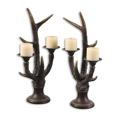 Uttermost Lighting Candle Holder in Burnished Ivory Finish 19204