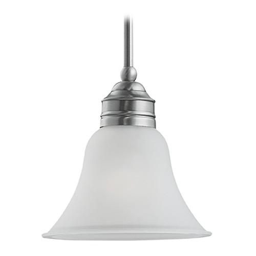 Sea Gull Lighting Mini-Pendant Light with White Glass 61850-965