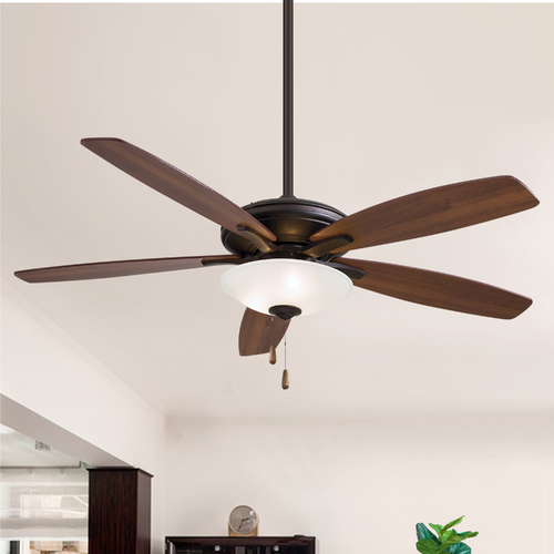 Minka Aire 52-Inch Modern Ceiling Fan with Light with White Glass in Oil Rubbed Bronze Finish F522-ORB
