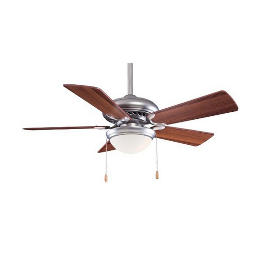 Minka Aire 44-Inch Ceiling Fan with Five Blades and Light Kit F563-SP-BS/DW