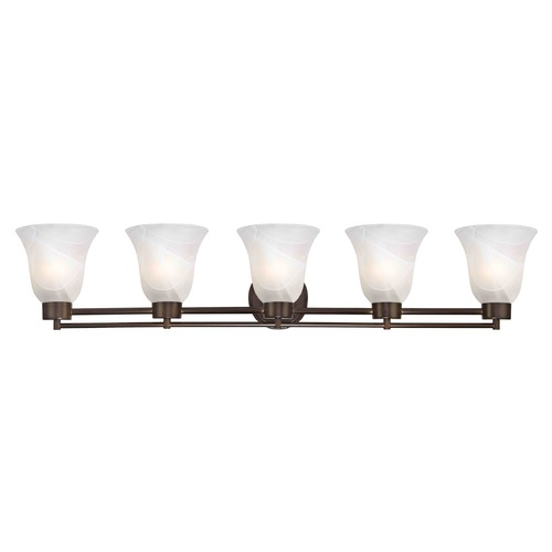 Design Classics Lighting Bronze Bathroom Light 706-220 GL9222-ALB
