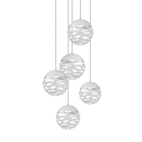 Kuzco Lighting Kuzco White LED Multi-Light Pendant MP2505-WH
