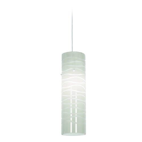 Access Lighting Access Lighting Tungsten Brushed Steel LED Mini-Pendant Light with Cylindrical Shade 72932LED-BS/WHTLN