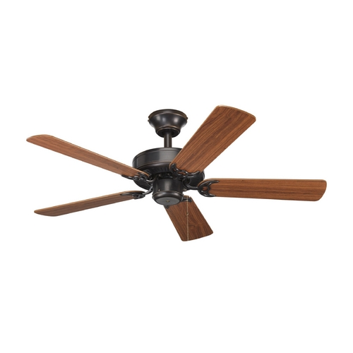 Progress Lighting Progress Ceiling Fan Without Light in Antique Bronze Finish P2500-20