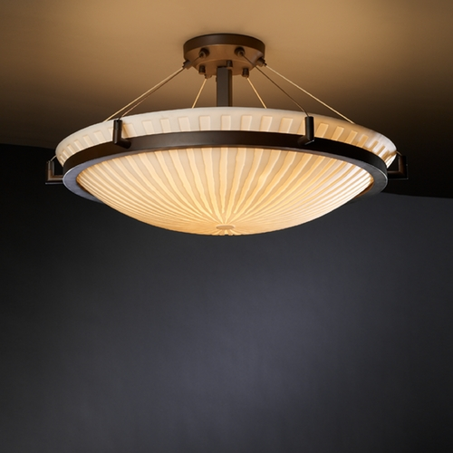 Justice Design Group Justice Design Group Porcelina Collection Semi-Flushmount Light PNA-9682-35-WFAL-DBRZ