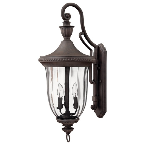 Hinkley Lighting Outdoor Wall Light with Clear Glass in Midnight Bronze Finish 1245MN