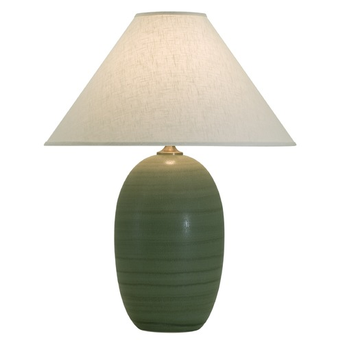 House of Troy Lighting House of Troy Scatchard Green Matte Table Lamp with Conical Shade GS150-GM