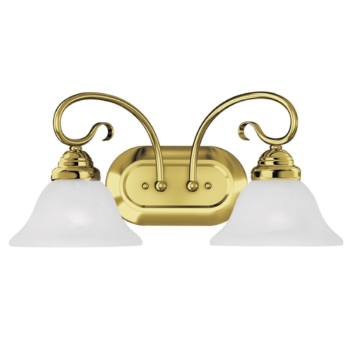 Livex Lighting Livex Lighting Coronado Polished Brass Bathroom Light 6102-02