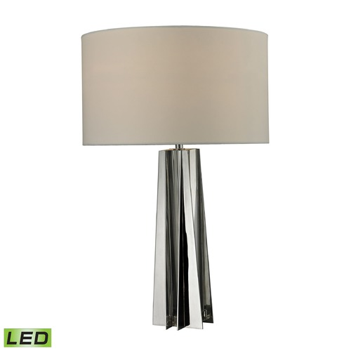 Dimond Lighting Dimond Lighting Chrome, Clear Crystal LED Table Lamp with Drum Shade D2421-LED