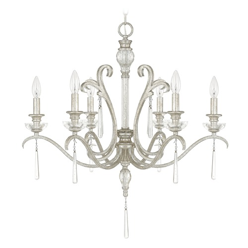 Capital Lighting Capital Lighting Celine Antique Silver Crystal Chandelier 4786AS-000