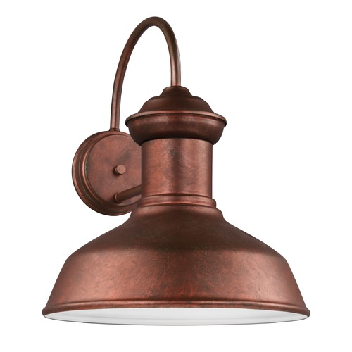 Sea Gull Lighting Sea Gull Fredricksburg Weathered Copper Outdoor Wall Light 8647701-44