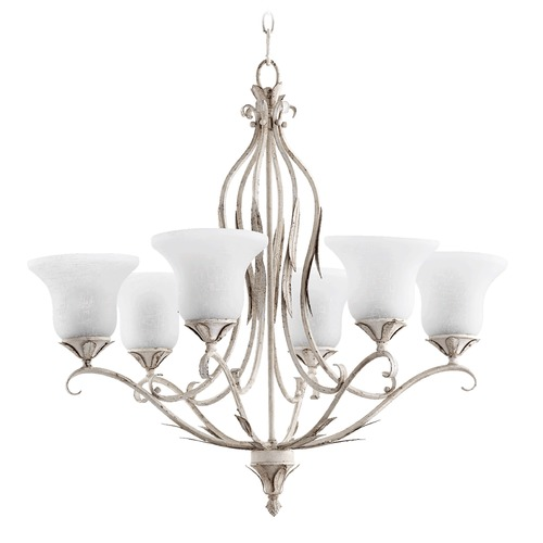 Quorum Lighting Quorum Lighting Flora Persian White Chandelier 6272-6-70
