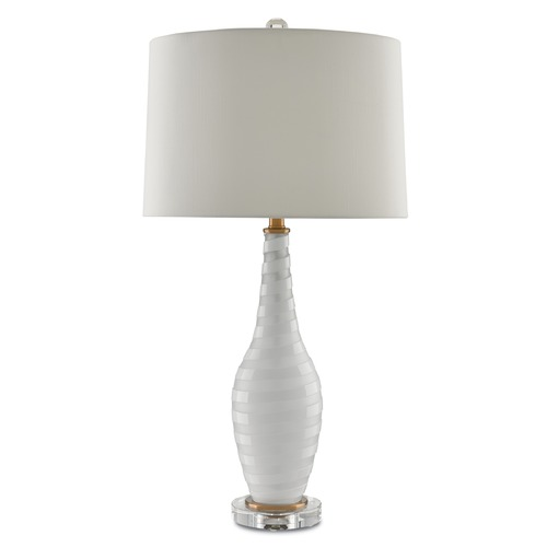 Currey and Company Lighting Currey and Company Arlingotn Frosted/white/clear Table Lamp with Drum Shade 6000-0014