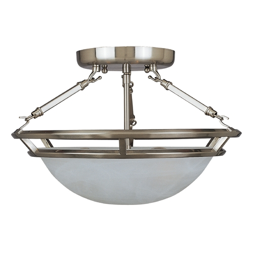Maxim Lighting Maxim Lighting Stratus Pewter Semi-Flushmount Light 2670MRPE