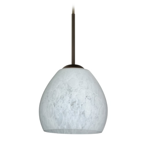 Besa Lighting Besa Lighting Bolla Bronze Mini-Pendant Light with Bowl / Dome Shade 1BT-412219-BR