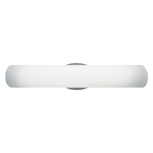 Tech Lighting Modern Bathroom Light with White Glass in Satin Nickel Finish 700BCLUN24S-HL