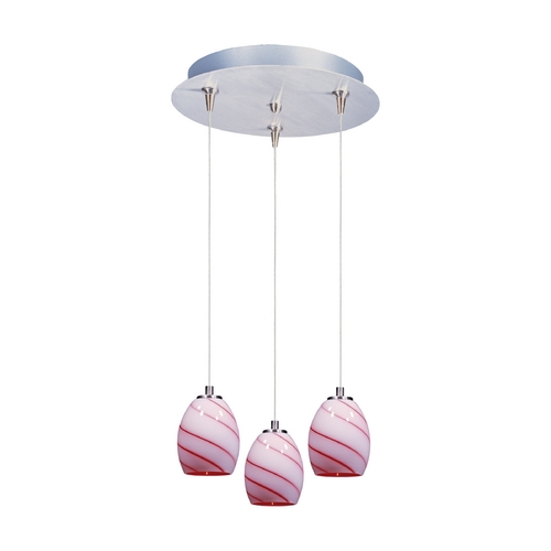 ET2 Lighting Modern Low Voltage Multi-Light Pendant Light 3-Lights E94636-107SN
