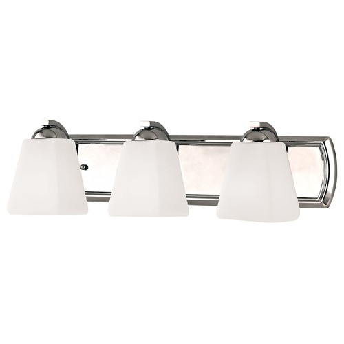 Dolan Designs Lighting Bathroom Light with White Glass in Chrome Finish 3373-26