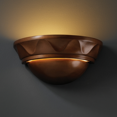 Justice Design Group Sconce Wall Light in Antique Copper Finish CER-1030-ANTC
