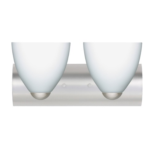 Besa Lighting Besa Lighting Sasha Satin Nickel LED Bathroom Light 2WZ-757207-LED-SN