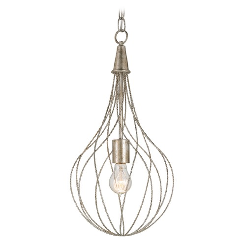 Currey and Company Lighting Currey and Company Lighting Whisk Silver Granello Pendant Light 9491