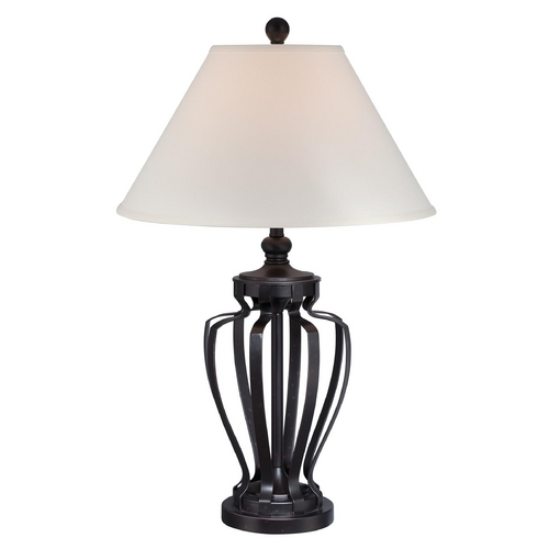 Lite Source Lighting Lite Source Lighting Rigoberto Dark Bronze Table Lamp with Empire Shade LSF-22557