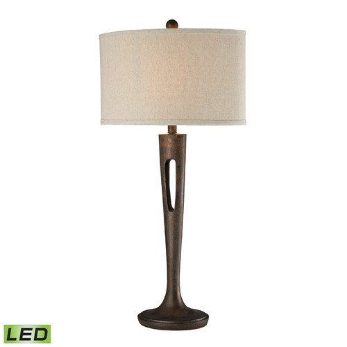 Dimond Lighting Dimond Lighting Burnished Bronze LED Table Lamp with Drum Shade D2426-LED