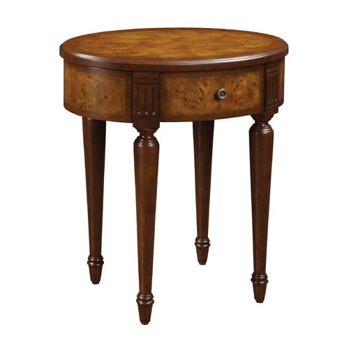 Sterling Lighting Sterling Lighting Mappa Burl Accent Table 6043224
