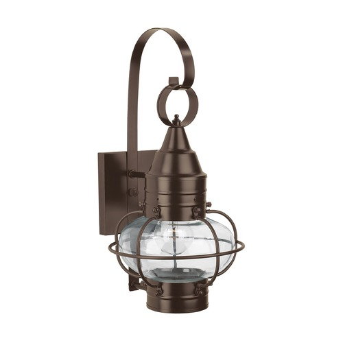 Norwell Lighting Norwell Lighting Classic Onion Bronze Outdoor Wall Light 1513-BR-CL