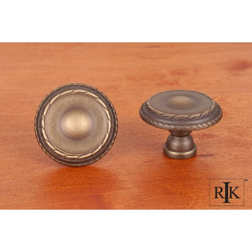 RK International Large Double Roped Edge Knob CK705AE