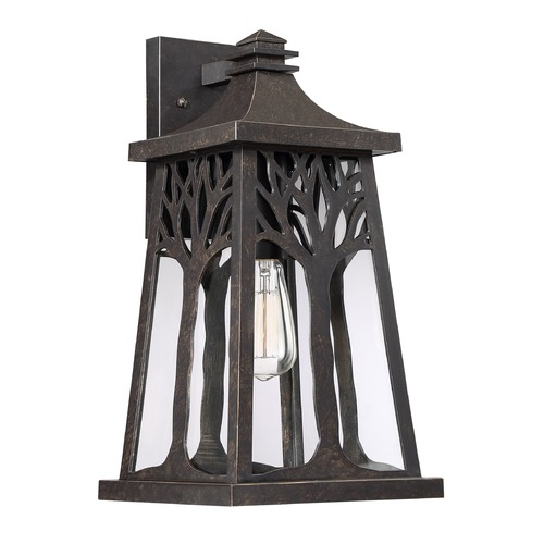 Quoizel Lighting Imperial Bronze 1-Light Outdoor Wall Light with Clear Shade WWD8409IB