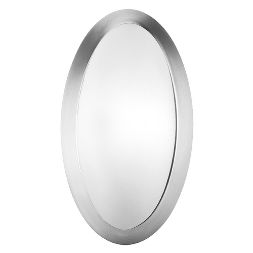 Access Lighting Modern Sconce Wall Light with White Glass in Brushed Steel Finish 20421-BS/OPL