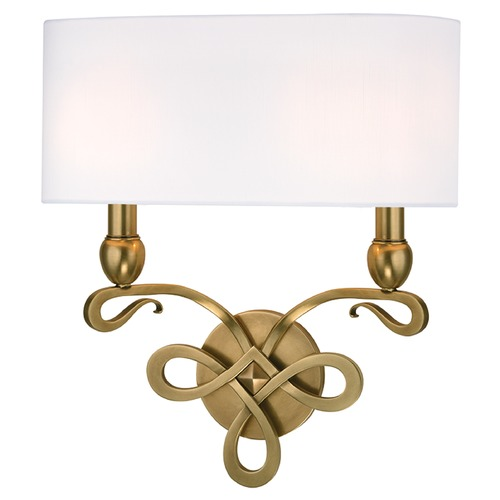 Hudson Valley Lighting Pawling 2 Light Sconce - Aged Brass 7212-AGB