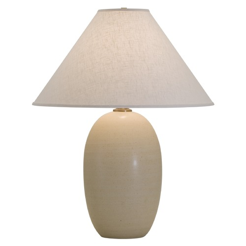 House of Troy Lighting House Of Troy Scatchard Oatmeal Table Lamp with Conical Shade GS150-OT