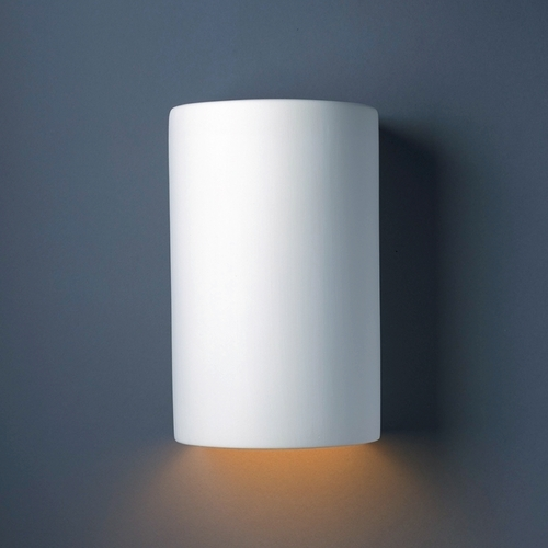 Justice Design Group Sconce Wall Light in Bisque Finish CER-1260-BIS