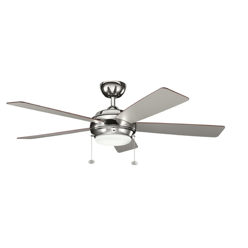 Kichler Lighting Kichler Lighting Starkk Polished Nickel Ceiling Fan with Light 300173PN
