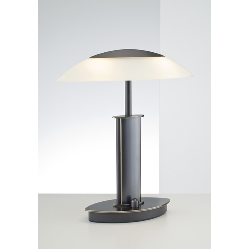 Holtkoetter Lighting Holtkoetter Modern Table Lamp with Beige / Cream Glass in Hand-Brushed Old Bronze Finish 6244 HBOB CHA