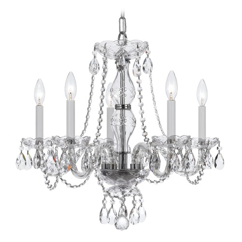 Crystorama Lighting Crystorama Lighting Traditional Crystal Polished Chrome Chandelier 5085-CH-CL-SAQ