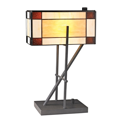 Dimond Lighting LED Table Lamp with Multi-Color Glass in Matte Black Finish D2540-LED