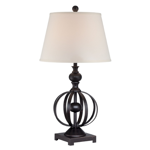 Lite Source Lighting Lite Source Lighting Marquette Dark Bronze Table Lamp with Empire Shade LS-22558