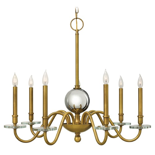 Hinkley Lighting Hinkley Lighting Everly Heritage Brass Chandelier 4206HB