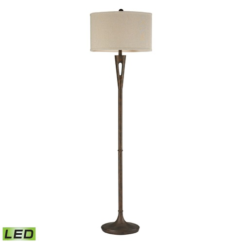 Dimond Lighting Dimond Lighting Burnished Bronze LED Floor Lamp with Oval Shade D2427-LED