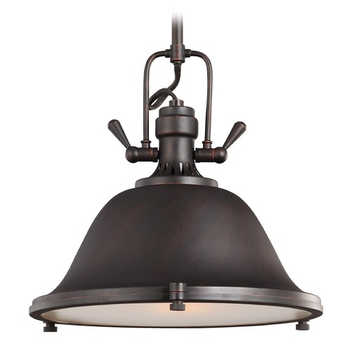 Sea Gull Lighting Sea Gull Lighting Stone Street Brushed Nickel Pendant Light with Bowl / Dome Shade 6514401BLE-962