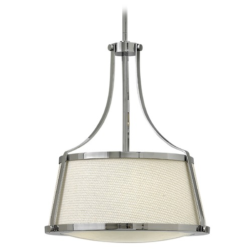 Hinkley Lighting Hinkley Lighting Charlotte Chrome Pendant Light with Conical Shade 3523CM