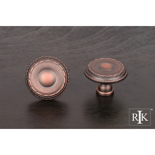 RK International Large Double Roped Edge Knob CK705DC