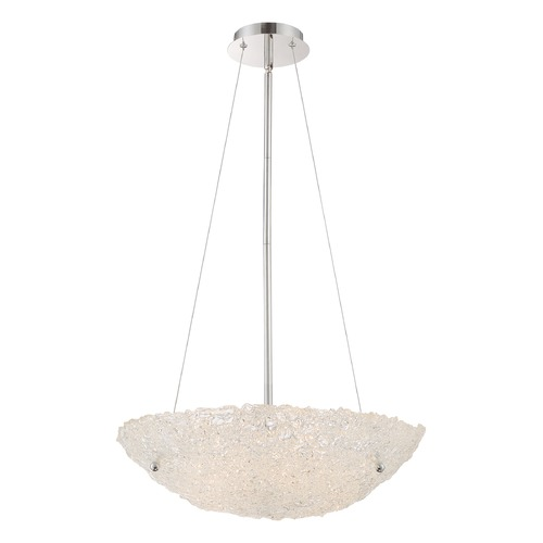 Quoizel Lighting Quoizel Lighting Platinum Collection Vision Polished Chrome Pendant Light with Bowl / Dome Shade PCVN2820C