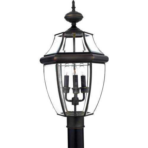 Quoizel Lighting Post Light with Clear Glass in Medici Bronze Finish NY9043Z