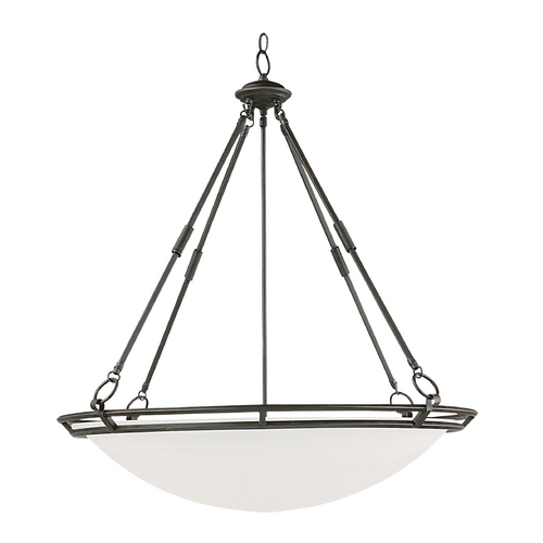 Maxim Lighting Modern Pendant Light with Alabaster Glass Shades in Bronze Finish 2671MRBZ