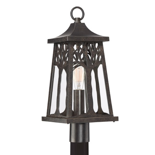 Quoizel Lighting Imperial Bronze 1-Light Post Light with Clear Shade WWD9009IB